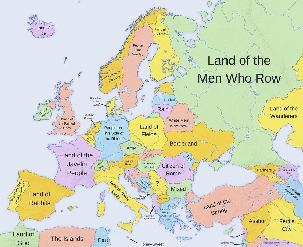 Onlmaps On Twitter What Country Names Mean In Europe