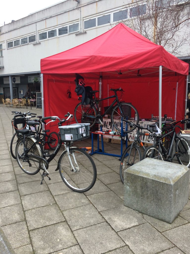 The Ninja Bicycle Stall at The Blue Market