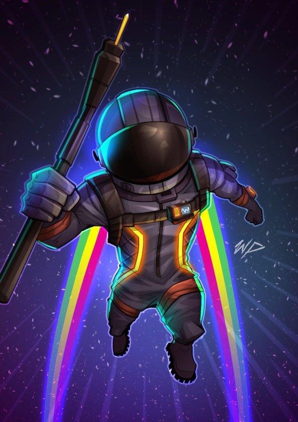 """Puekkers on Twitter: """"Dark voyager Fan art @FortniteGame # ..."""