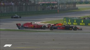 Vettel cina Verstappen