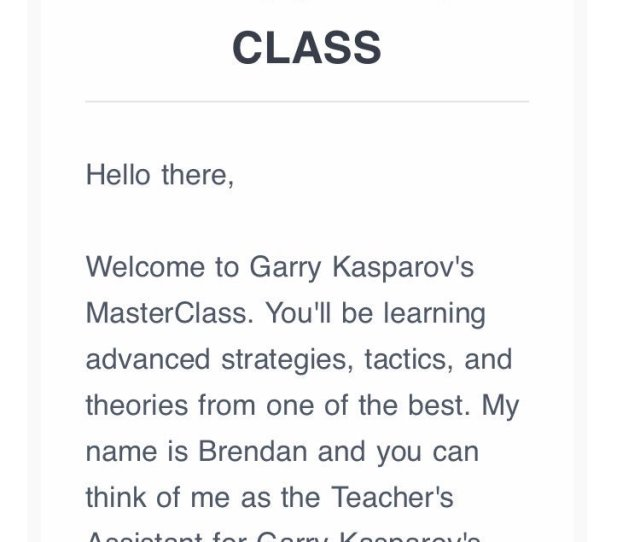 I Gave My Son The Next Best Thing To Private Lessons With You Kasparov63 Masterclass Hes Really Excited To Be Deep In Double Attack Training With You