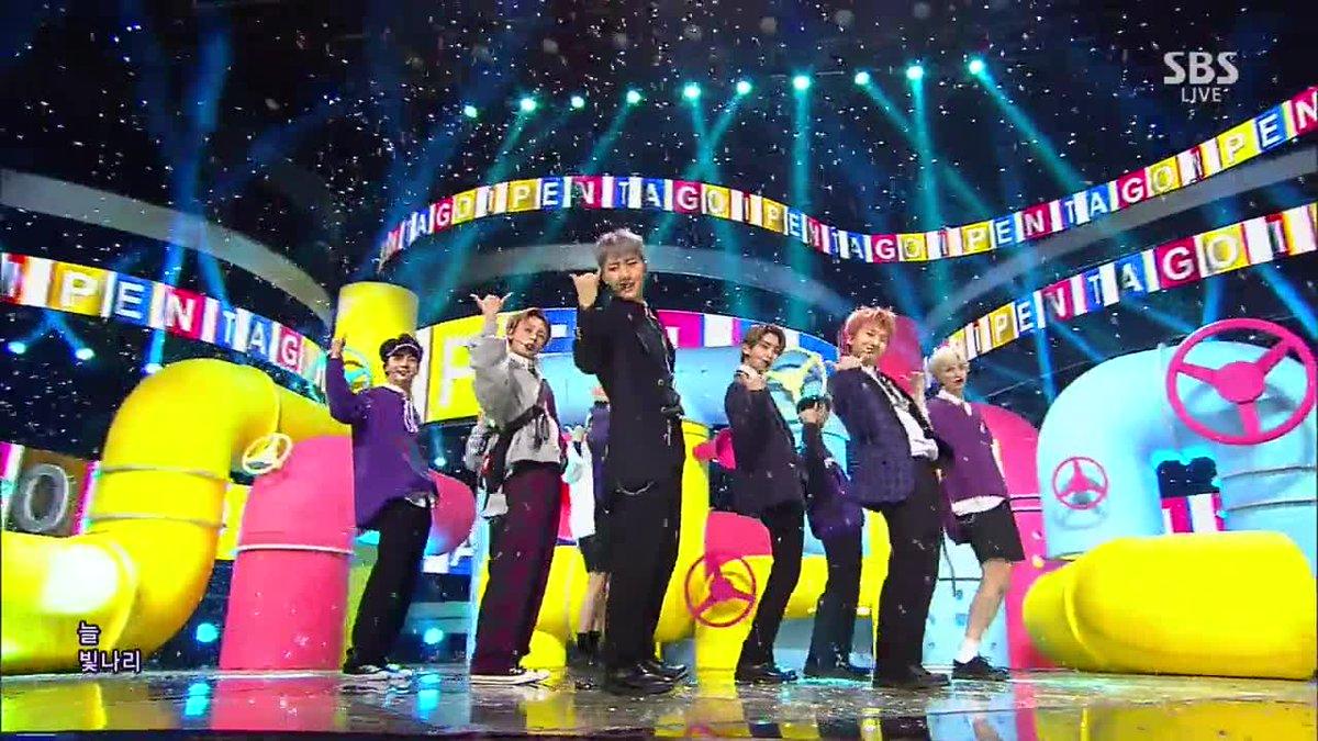 Image result for pentagon shine inkigayo stage site:twitter.com