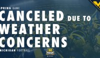 Michigan Football Spring Game Gets Canceled Due To Weather
