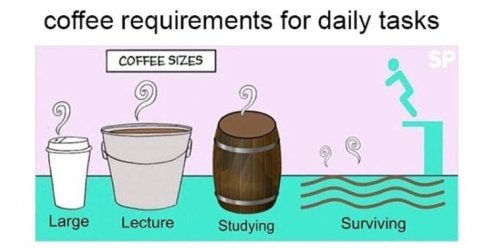 Image result for coffee and student life meme