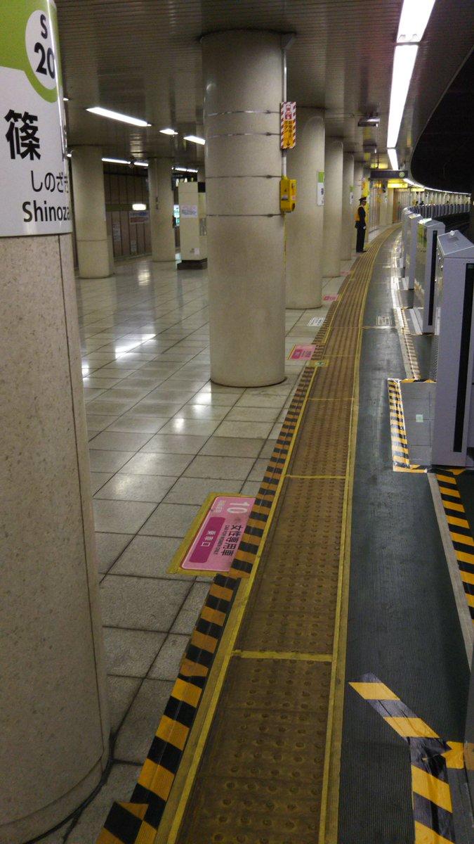 test ツイッターメディア - 都営新宿線 篠崎駅1番線(新宿方面)にホームドアが設置されました。 2番線(本八幡方面)は4月28日に設置予定。  #都営新宿線 #篠崎駅 #ホームドア https://t.co/LrBuE1yO7i