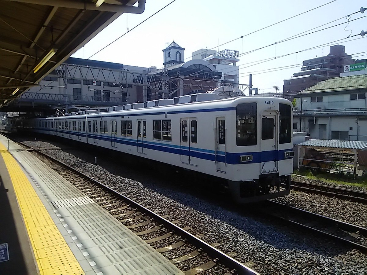 test ツイッターメディア - 【#八トタ写真館】6508回目は、今日東武越生線坂戸駅②8:47頃到着のA886当駅止まり4両81119F。 折り返し東上線下り森林公園行回送となり9:03頃発車しました。回送電車もワンマン運転です。 https://t.co/SXztvwv5Jk