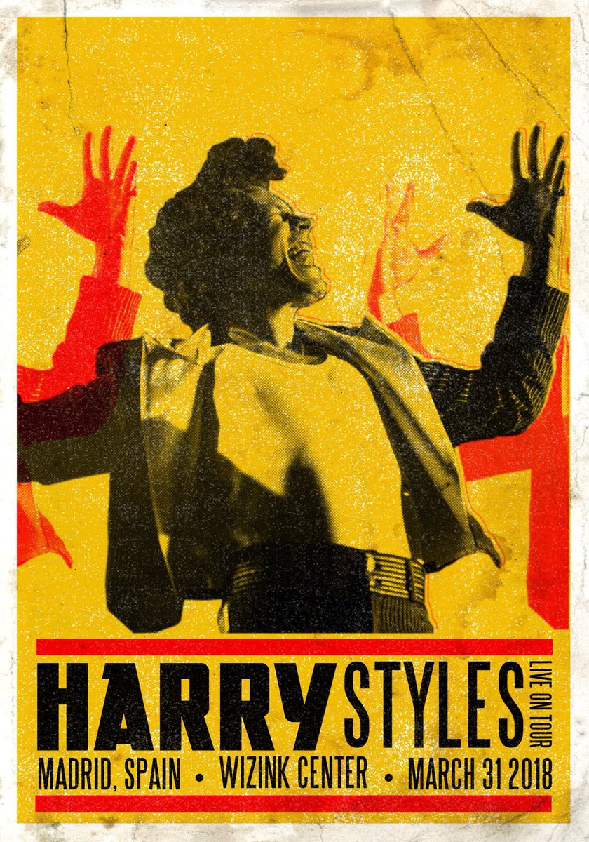 vintage tour posters for harry