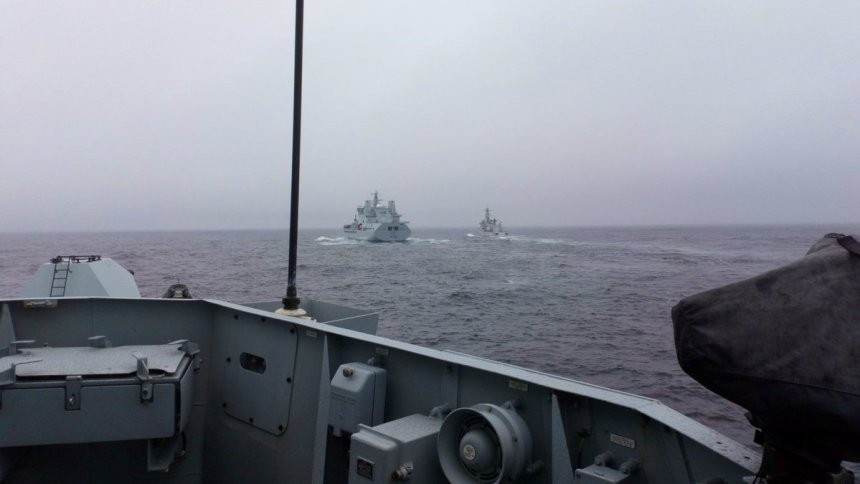 The view from HMS Montrose during Joint Warrior 18.