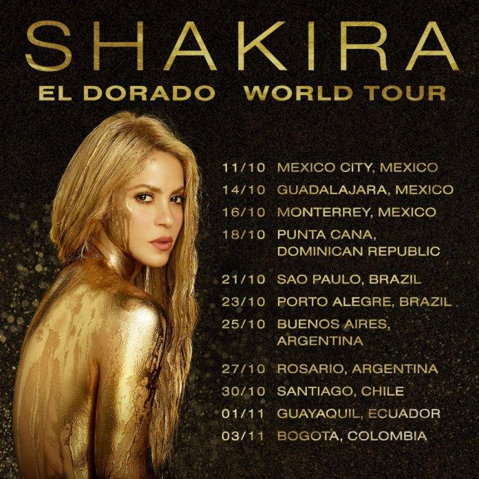 Concierto de Shakira en México 2018