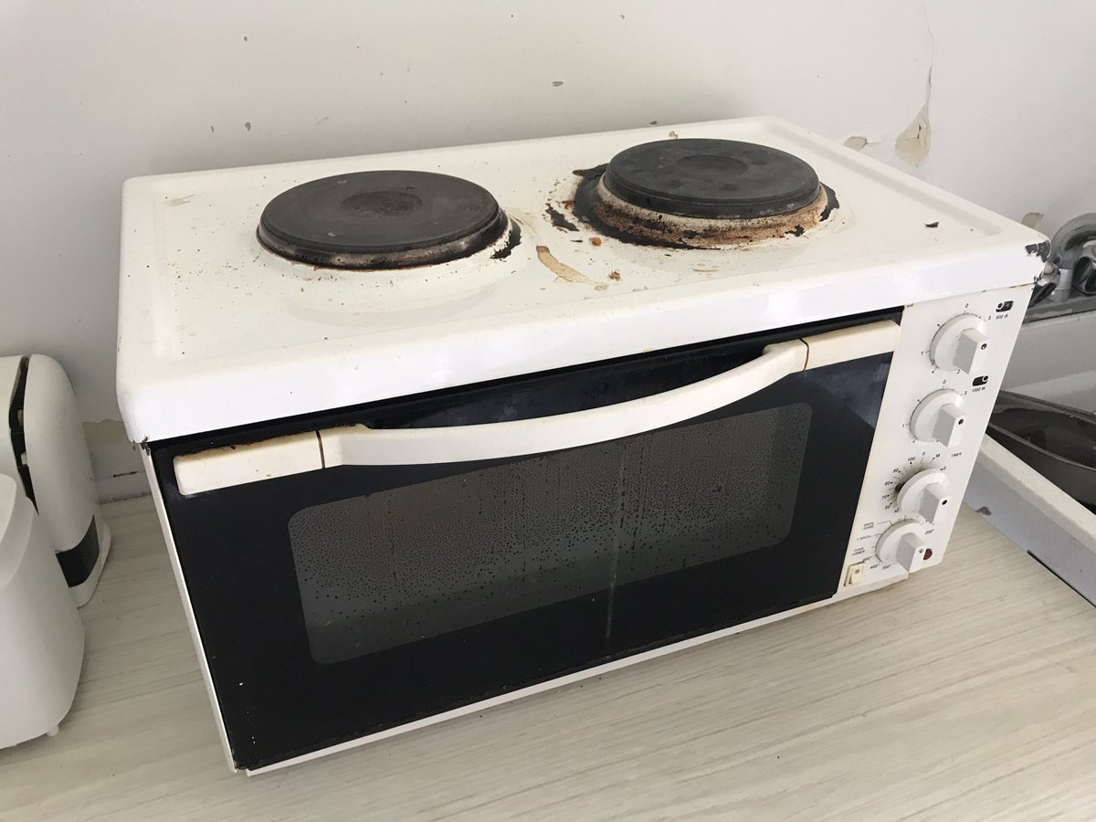 hot plate microwave combo 1st time
