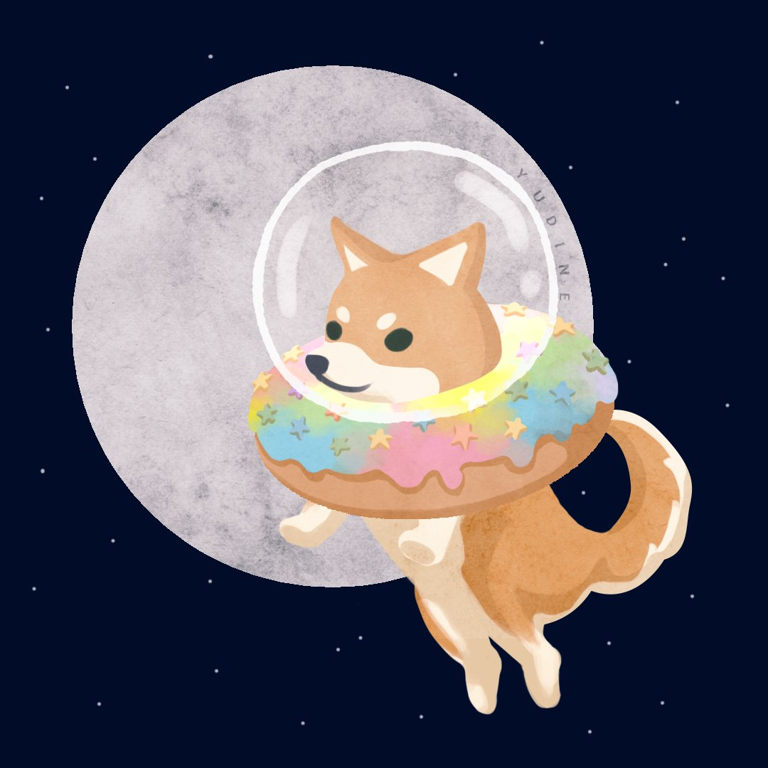 🍩 Happy national donut day! All credit to @yudineart for this adorable picture.   Such wow! 🎉          Many donut! 🍩                  To the moon! 🌕   #NationalDonutDay #NationalDoughnutDay