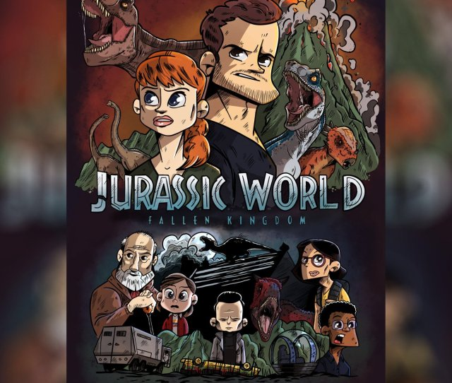 If Jurassic World Was An Animated Series Jurassicworld Jurassicworldfallenkingdom Jurassicpark Cartoon Animatedseries Poster Movieposter