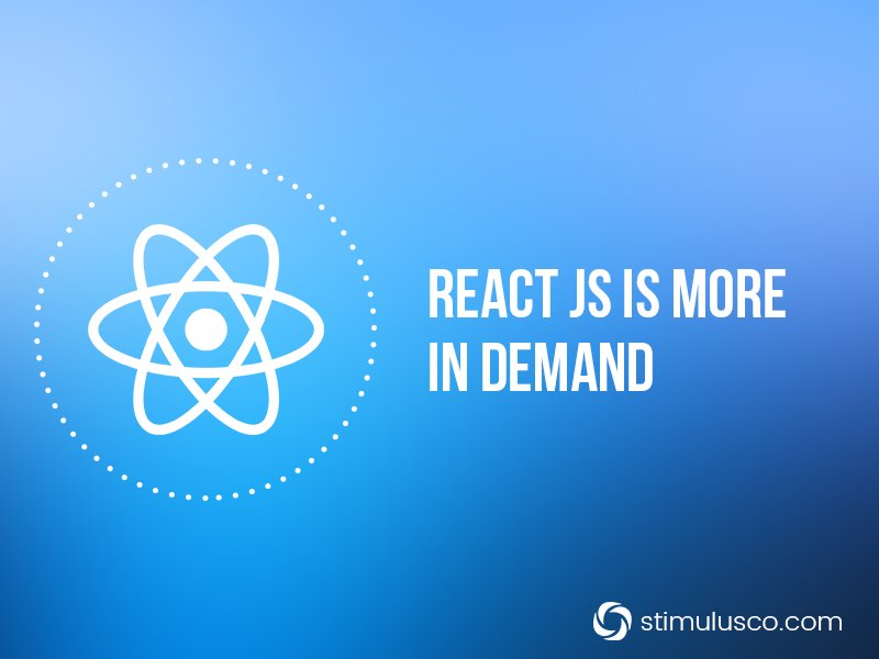 One of the most in demand technologies right now is #ReactJS    #WebDev #javascript  #WebApp