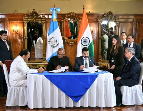 Image result for India, Guatemala ink MoU for expanding cooperation in diplomatic training