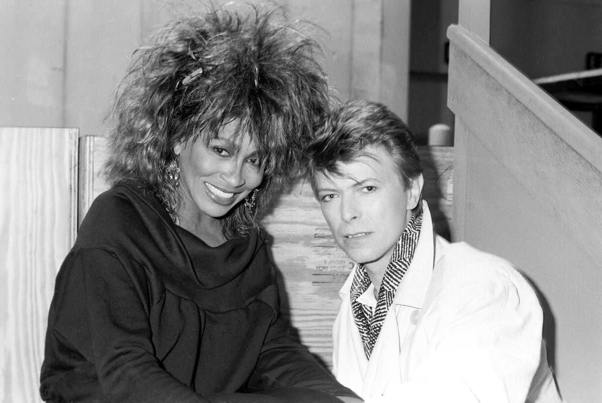 Foto. derecha Tina Turner, izquierda David Bowie/1985