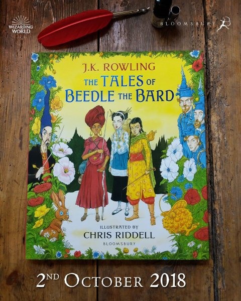 Bloomsbury Kids UK on Twitter   ICYMI  here s Chris Riddell s         edition of The Tales of Beedle the Bard  out 2 October 2018