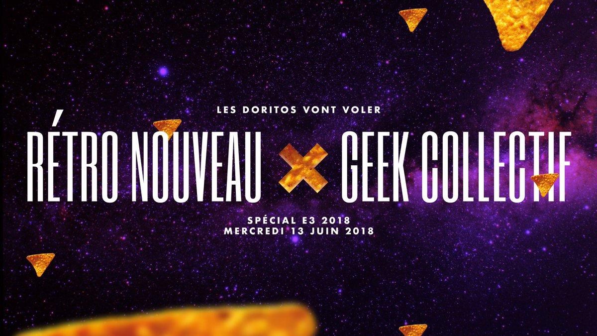 test Twitter Media - Attachez vos #Doritos, ça va chauffer!!! @GeekCollectif X @retro_nouveau #E3 2018 https://t.co/SVoL1H6juL
