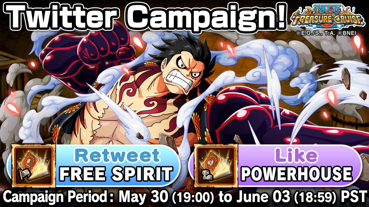 One piece with one piece treasure cruise vol.2 ichiban kuji last one prize. One Piece Treasure Cruise On Twitter Monkey D Luffy Gear Four Appears On The Treasure Map At Long Last Your Votes Decide Your Prize How Would You Use Monkey D Luffy