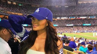 Meet Dodgers Fan Daphne…She's Also 50 Cent's Baby Momma