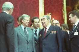 "OurPresidents on Twitter: ""President Jimmy Carter and General Secretary Leonid  Brezhnev signed the SALT II strategic arms limitation treaty between the  U.S. and the U.S.S.R. #OTD, June 18, 1979. @CarterLibrary:  https://t.co/g7435qZr7c 📷:"
