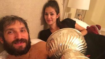Alex Ovechkin And His Wife Slept With The Stanley Cup