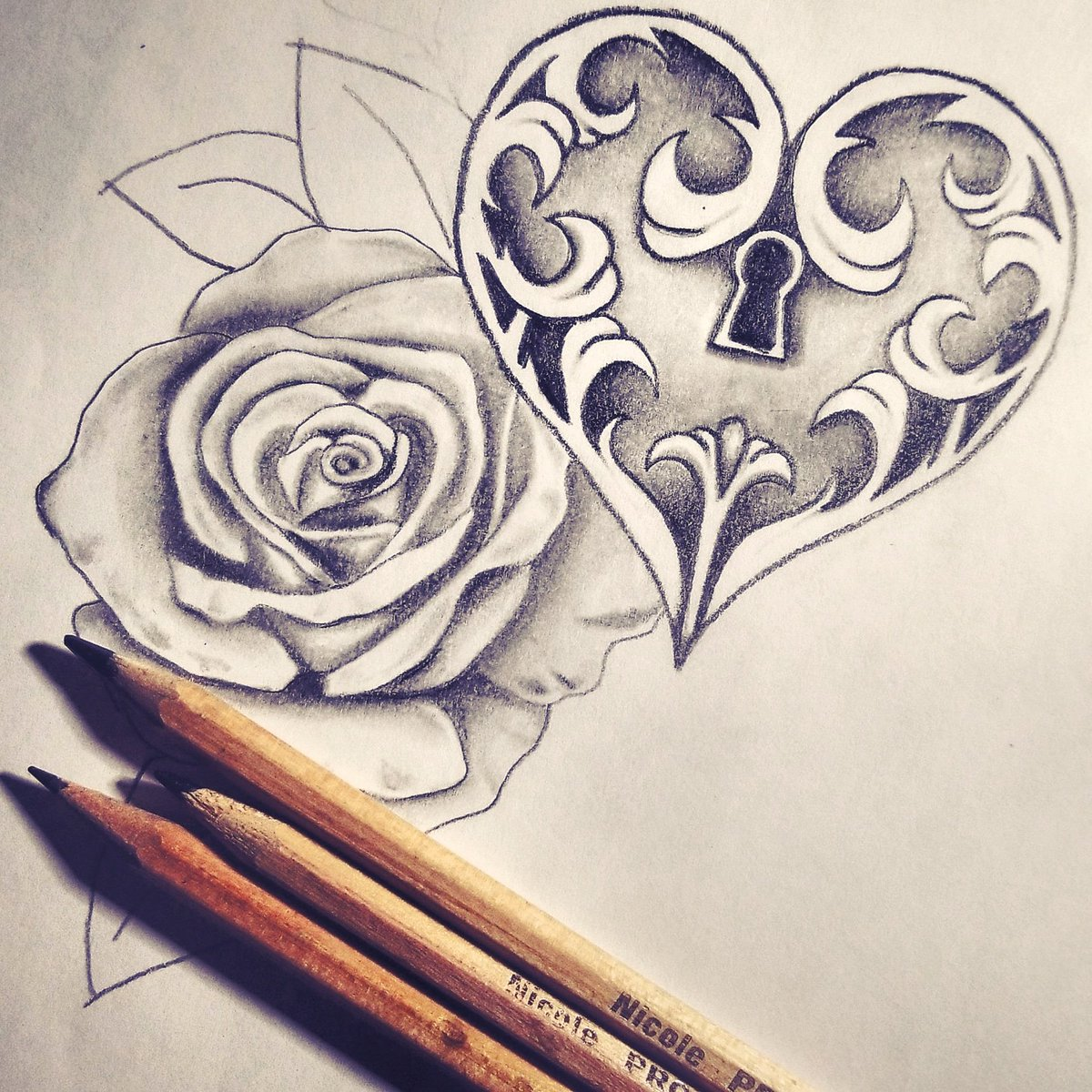 Jacqueline On Twitter Drawing Done By Me Drawing Sketch Tattoosketch Tattoo Heart Rose Art Artwork Artist Rosetattoo Draw Illustration Pencil Pencilwork Pencilart Follow Artsy Artoftheday Lcoket Love Https T Co 1adsnx3pwp