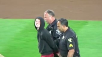 Seattle Fan Made His Way Onto To The Field Last Night During The Mariners-Red Sox Game