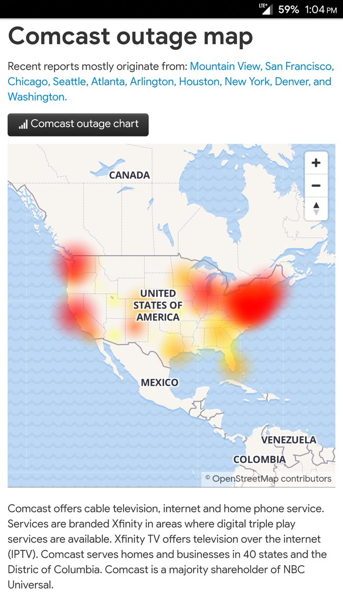 Wulfegang On Twitter Not Sure If Comcast Outage Map Or Fallout 76 Affected Areas