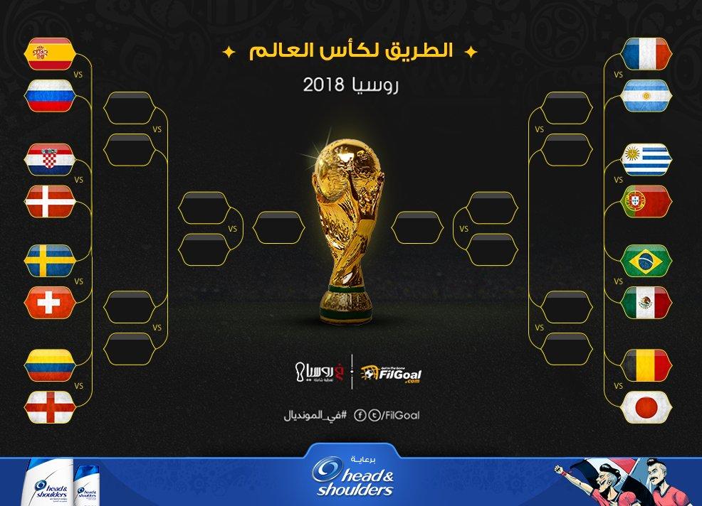 جدول مباريات كاس العالم دور 16