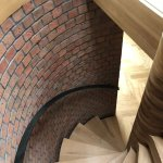 Inglis Hall On Twitter Another Shot Of The Floating Spiral Staircase We Designed And Made For This Curved Brick Wall The Stairs Are Made Of Steel Treads Clad In Solid Oak And