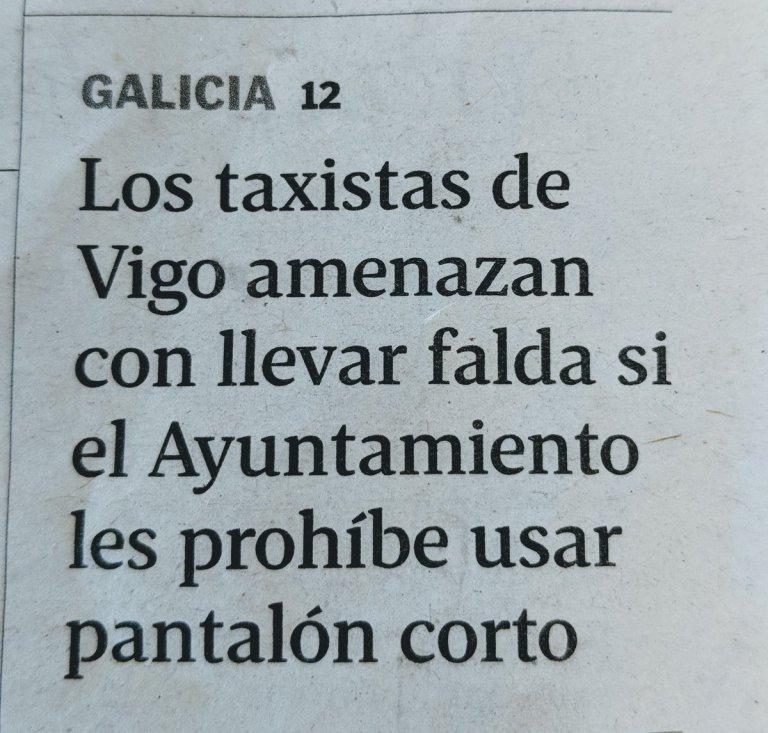 Taxistas de Vigo en falda