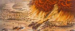 """Prof Frank McDonough on Twitter: """"14 July 1874. The Chicago Fire of 1874  burned down 47 acres of the city, destroyed 812 building & killed 20  people.… """""""