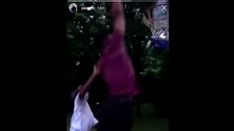 Saquon Barkley Shows No Mercy To Somebody's Kid In Driveway Basketball