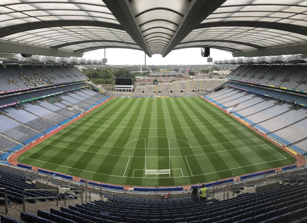 test Twitter Media - The calm before the storm! 2 big games here in @CrokePark today. The minor hurling semi final of @DubGAAOfficial v @Galway_GAA live on @SportTG4 @GAA_BEO and the senior semi final clash of @GaaClare v @Galway_GAA which will be live on both @RTEgaa and @SkySportsGAA https://t.co/8Rx0ByjHEv