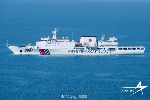 """dafeng cao on Twitter: """"One of the 10,000 ton class CCG Cutters #3901.  Photo by DS_T黑黑T… """""""