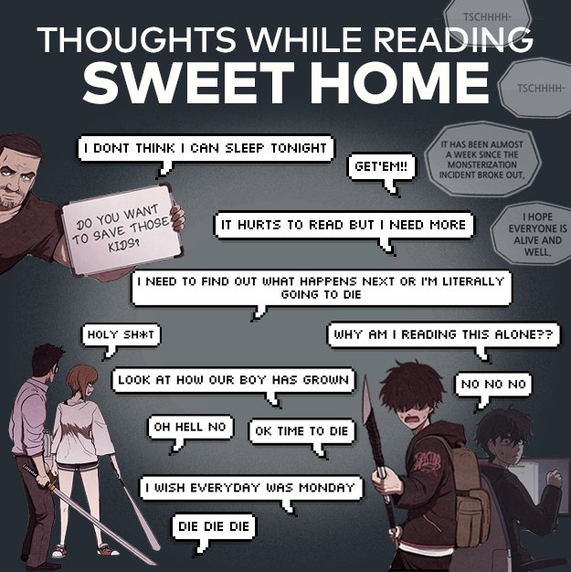 Did they invent golden hour or did i miss this in the webtoon? Webtoon On Twitter Our Thoughts Whenever Reading Sweet Home Fffffffffffffffuuuuuuuuuuuu What Are Yours Sweet Home Updates Every Monday Https T Co Vmbt0ygudk Https T Co Jyolwiqo3v