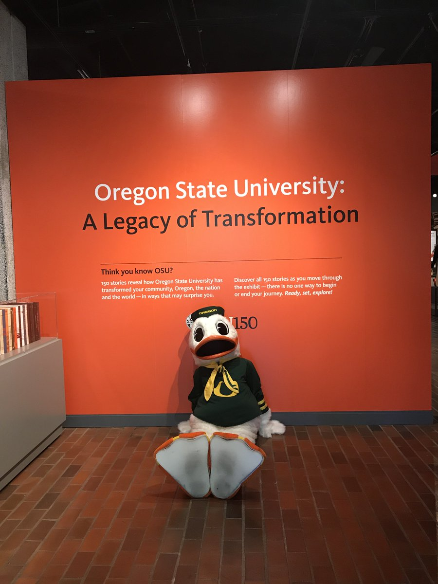 Come on out to @OrHist - to see the #OSU150 150 years of @OregonState history exhibition, @BeaverBaseball 2018 College World Series National Champions trophy, #OR #constitution, & so much more -- even the @uoforegon #ducks are doing it! #pdx