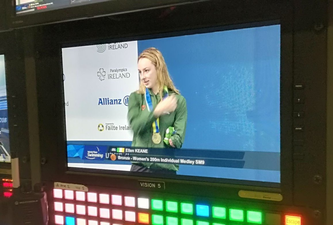 test Twitter Media - Ellen Keane getting Ireland's first medal at the @Paraswimming European Championships @ParalympicsIRE @AllianzIreland @swimireland @olympiccouncil  #Dublin2018 @nacdublin🥉 https://t.co/UauyCQW5dN