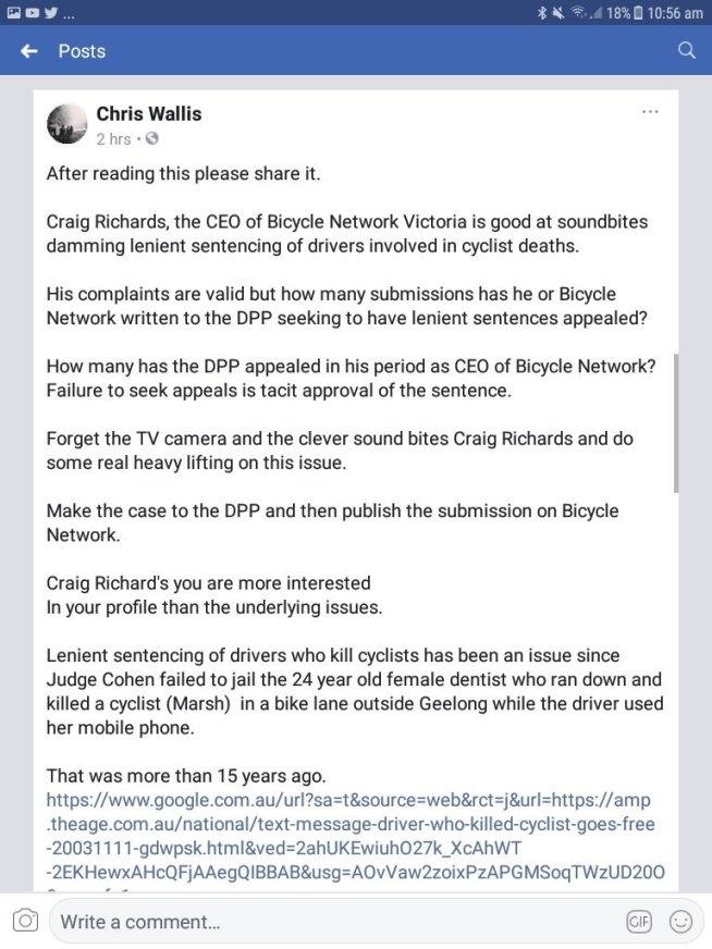 """test Twitter Media - the year is not over and its been appalling the number of deaths & serious injuries in the Aus cycling community, Chris's arguments are very valid , we have little """"real"""" advocacy happening, its mostly all sound bite reactive. Desperately need a change from our cycling orgs now!! https://t.co/XIk161a7oi"""