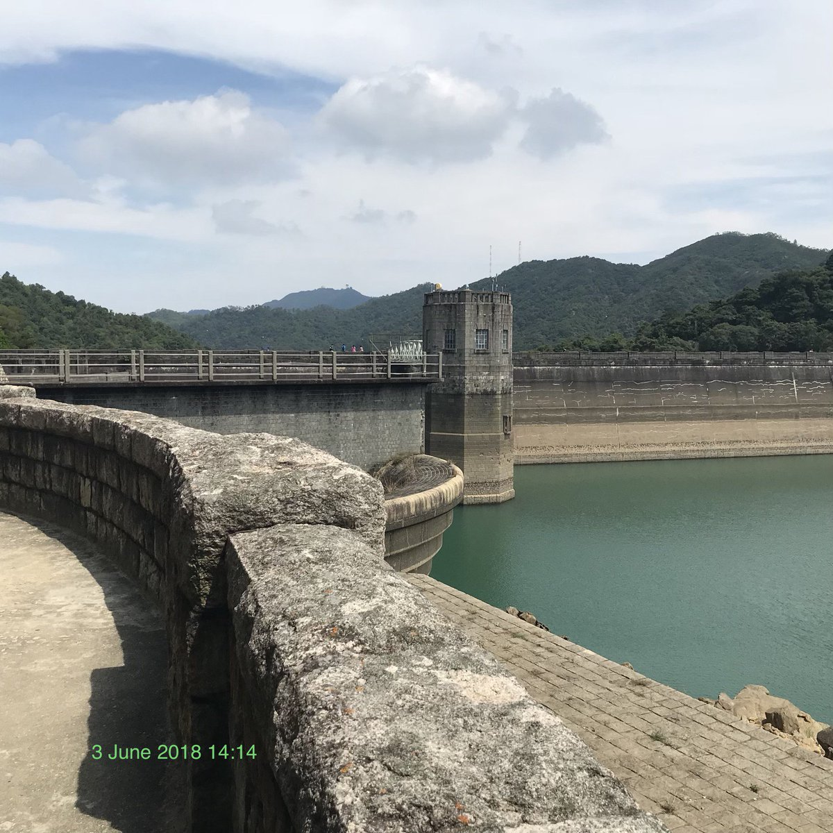 Shing Mun reservoir on Wilson trail section 7
