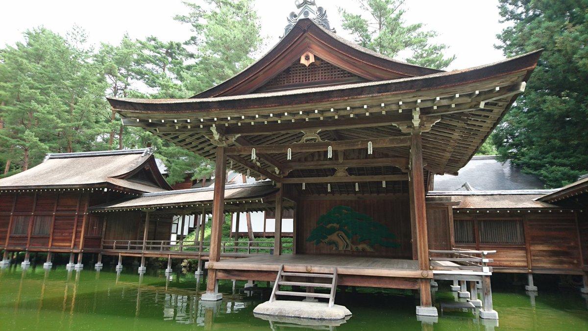 test ツイッターメディア - 身曾岐神社の能舞台。来月海老蔵さんが立つらしい。 https://t.co/cihwmMxxSl