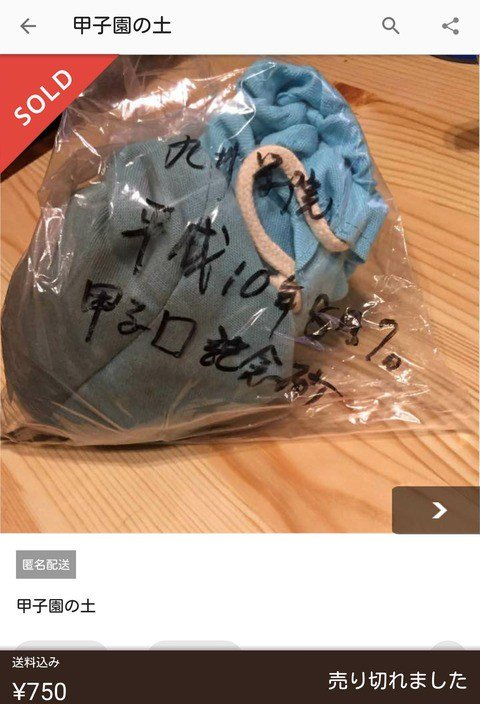 test ツイッターメディア - 【悲報】甲子園の土がメルカリに売られてしまう https://t.co/tG2NYj0yaz https://t.co/mHE8xabsKk