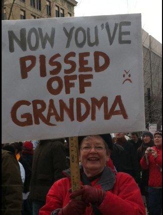 Mad Dog Pac loves grandmas.