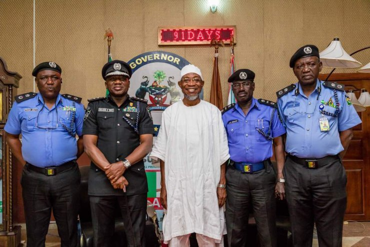 PHOTOS: IG, Ibrahim Idris Visits Governor Aregbesola