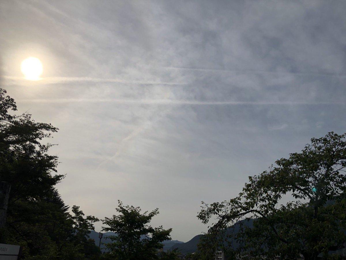 test ツイッターメディア - 昨日の長野県の地震雲〜|д゚)  3本めっちゃハッキリ出てる〜 |ω・)  当たりませんよーに(。-人-。)  #地震雲 https://t.co/o3RO6DCBuk