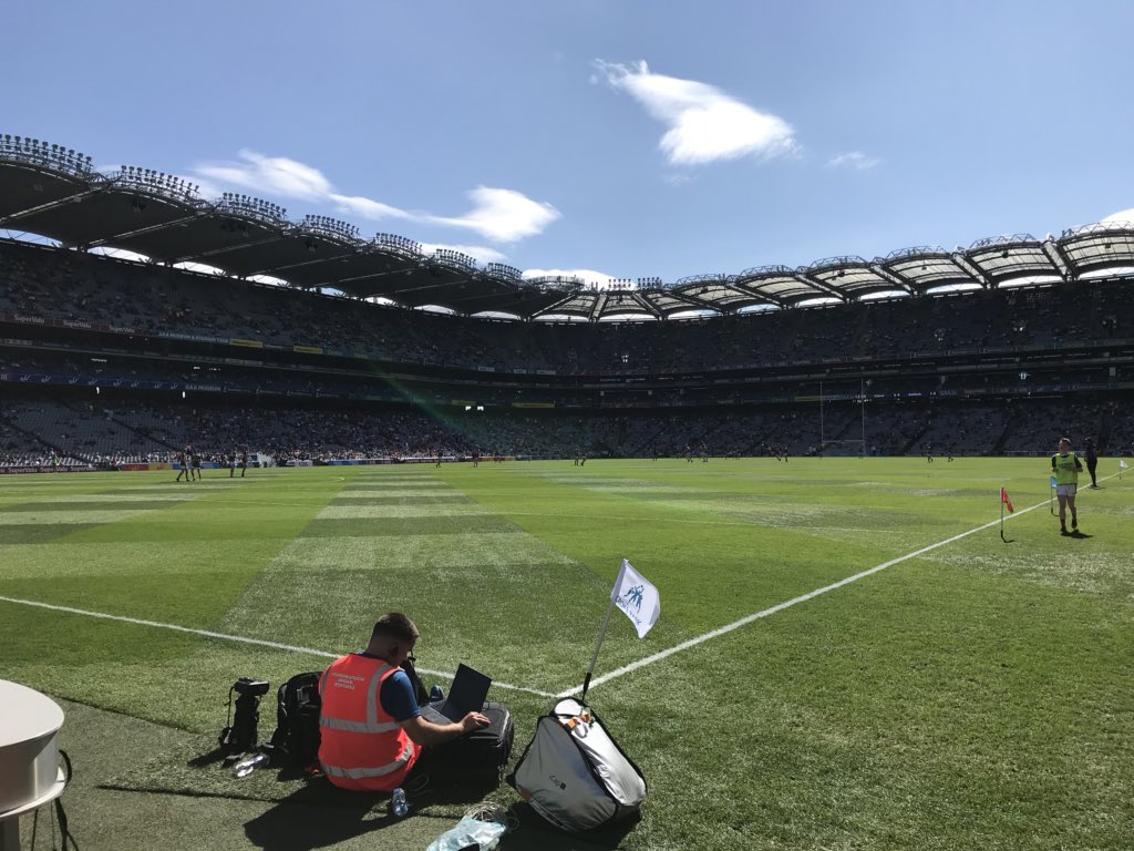 test Twitter Media - It's All-Ireland Football Final day here in Croke Park, Dublin V Tyrone live on RTE and Sky. Throw-in at 15.30 https://t.co/JAO93S7LTy