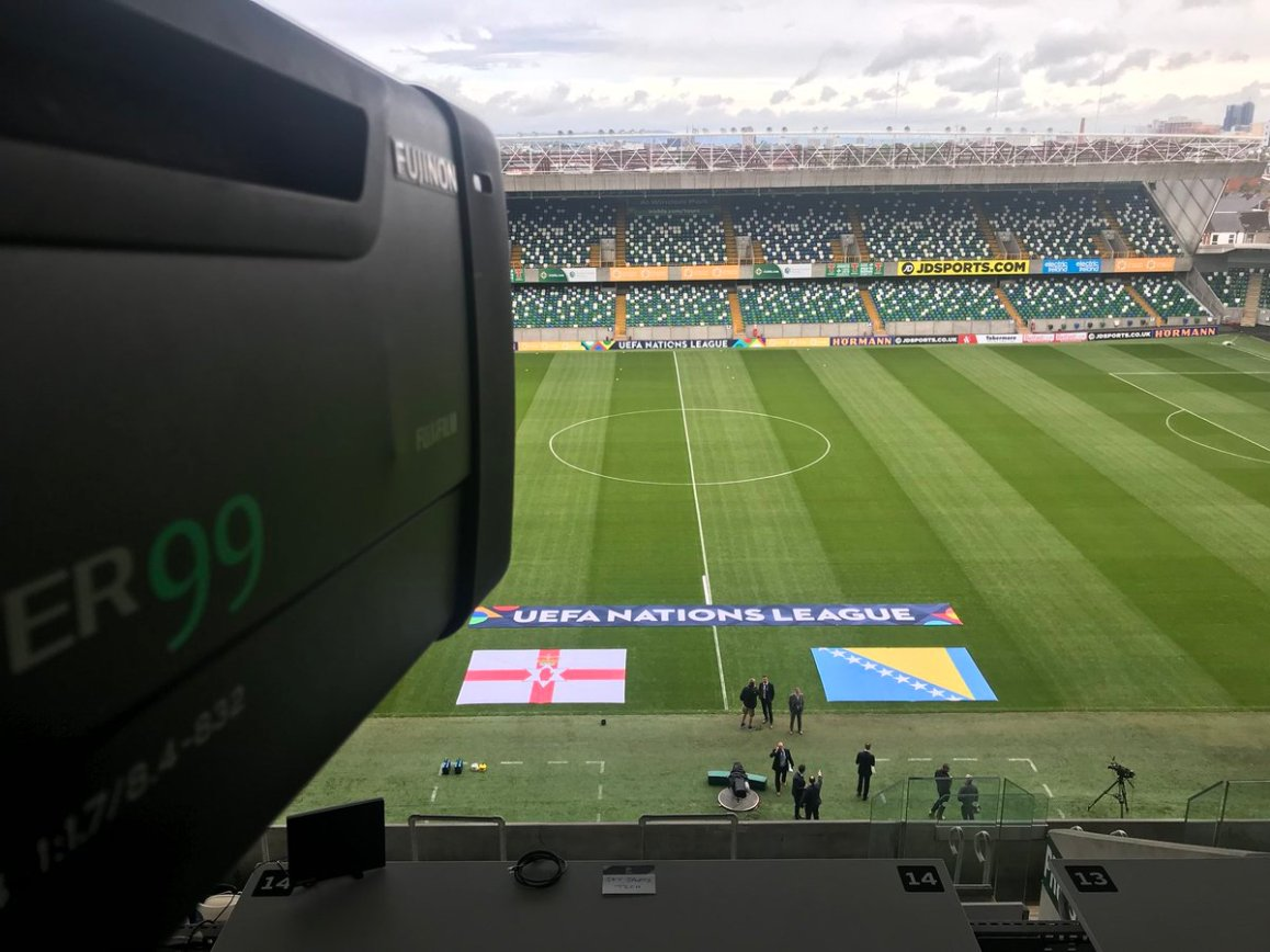 test Twitter Media - We are in Windsor Park Belfast for the UEFA Nations League Football match Northern Ireland V Bosnia live on Sky Sports, coverage from 13.30 https://t.co/TRczsUCVK4