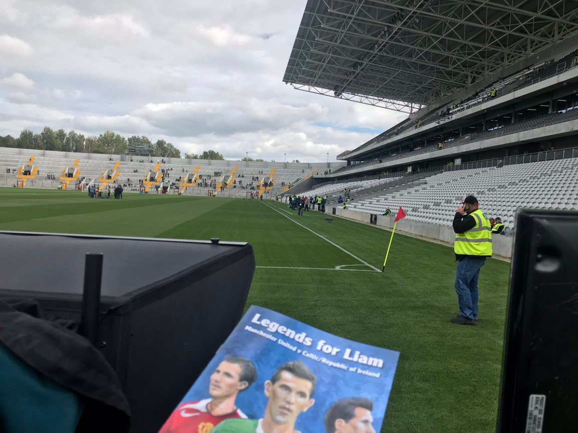 test Twitter Media - We are in Páirc Uí Chaoimh today for VirginMedia Sport. Liam Miller tribute Legends match. Manchester United V Celtic/Republic of Ireland, on-Air from 14.00 https://t.co/pmr09ZOppN