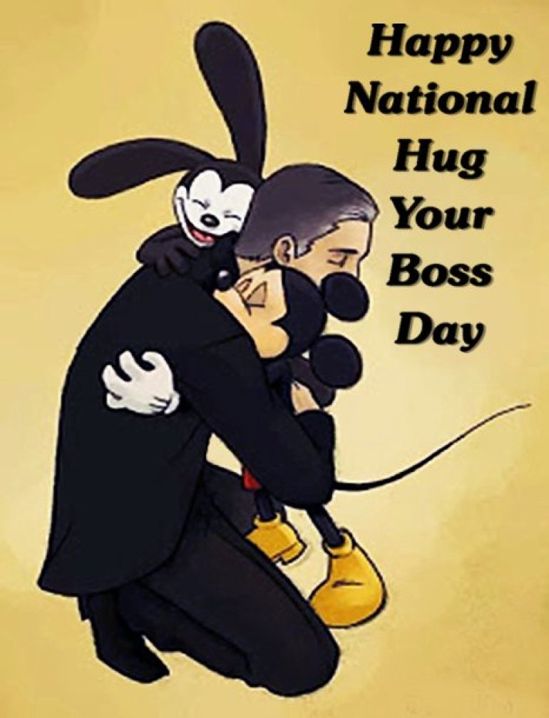 """DisneyChris Dot Com on Twitter: """"Show your boss some love today...  September 14th is officially """"National Hug Your Boss Day""""… """""""