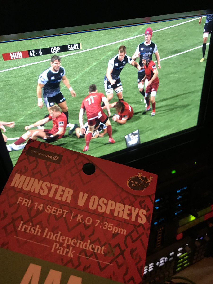 test Twitter Media - We are in Cork for the Pro14 match Munster V Ospreys at Independent park, watch us live on EirSport https://t.co/otFSvAOo1O